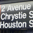 Houston Street sign